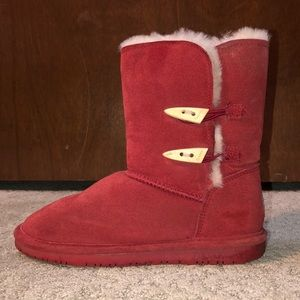 Red Bearpaw boots